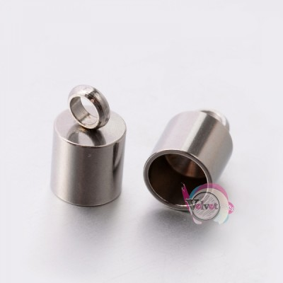 Ακροδέκτης ατσάλινος για κόλλημα,  10x6.5mm,   10τμχ. Εξαρτήματα