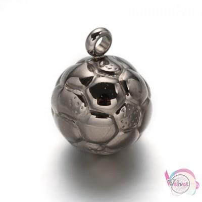 Μπάλα ατσάλινη   21x16mm     1τμχ. Ατσάλινα κρεμαστά μοτίφ