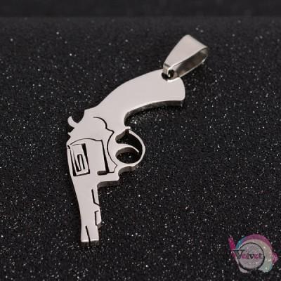 Όπλο ατσάλινο  45x17mm     1τμχ. Ατσάλινα κρεμαστά μοτίφ