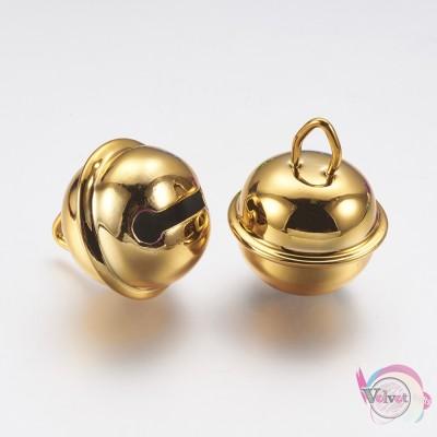 Κουδουνάκι, χρυσό, 25mm, 10τμχ Fashion items