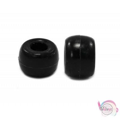 Ακρυλική χάντρα για κομποσκοίνι,  μαύρο, 9mm,   100τμχ. Χάντρες
