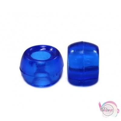 Ακρυλική χάντρα για κομποσκοίνι,  μπλε, 9mm,   100τμχ. Χάντρες