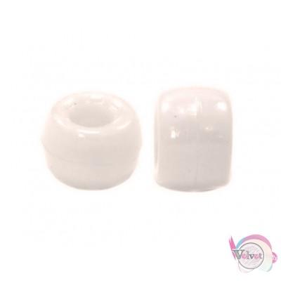 Ακρυλική χάντρα για κομποσκοίνι,  λευκό, 9mm,   100τμχ. Χάντρες