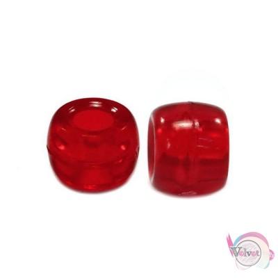 Ακρυλική χάντρα για κομποσκοίνι,  κόκκινο, 6mm,   200τμχ. Χάντρες