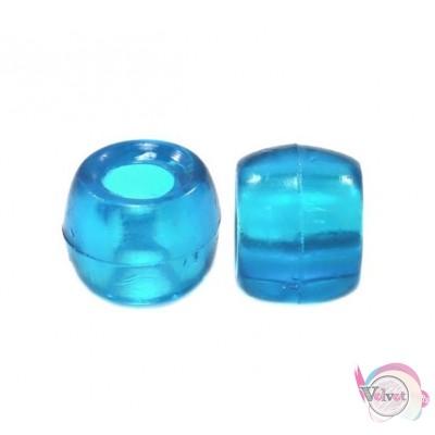 Ακρυλική χάντρα για κομποσκοίνι,  γαλάζια, 6mm,   200τμχ. Χάντρες