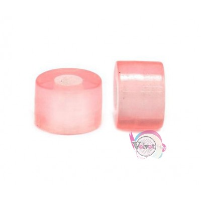 Ακρυλική χάντρα για κομποσκοίνι, ροζ, 9mm,   50τμχ. Χάντρες