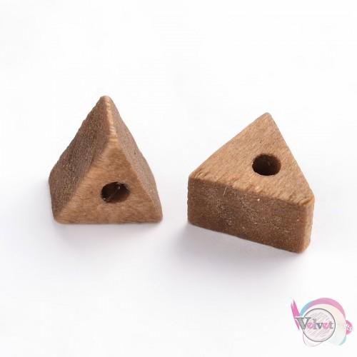 Περαστό τριγωνάκι, ξύλινο, 9x6mm,   50τμχ Ξύλο