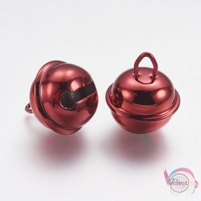 Κουδουνάκι, κόκκινο, 25mm, 10τμχ Fashion items