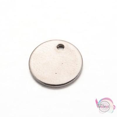 Ατσάλινο στοιχείο κύκλος ,κρεμαστό, φλουρί,  10mm, 20τμχ. Ατσάλινα μοτίφ-στοιχεία