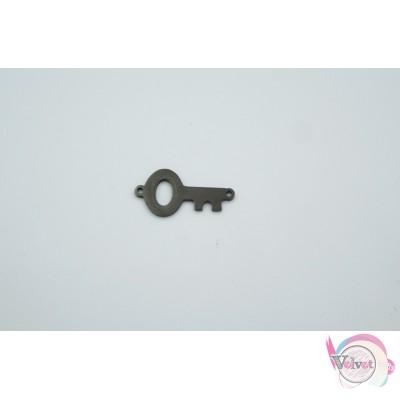 Ατσάλινο, κλειδί, σύνδεσμος, μαύρο, 21mm, 3τμχ. Διάφορα Links