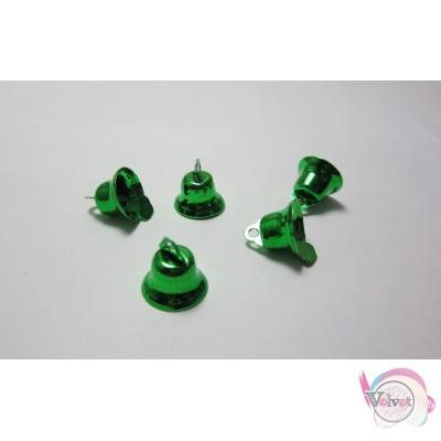 Καμπανάκια,πράσινα, 15mm,   30τμχ Γούρια