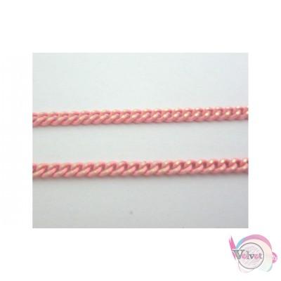 Αλυσίδα γκουρμέτ, ροζ-χρυσό, 0.6x3mm,   2μέτρα Διάφορες αλυσίδες