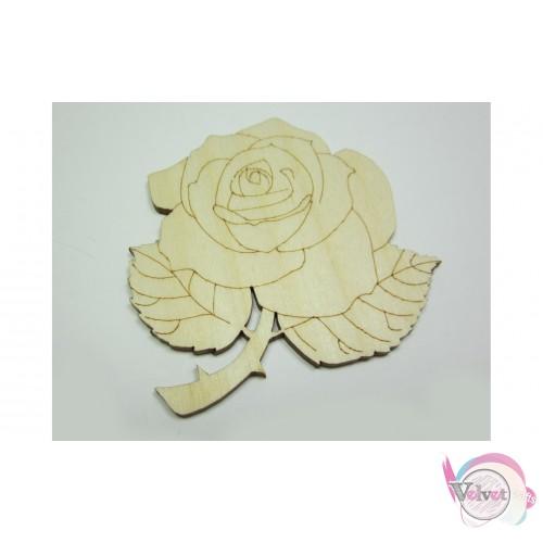 Ξύλινο διακοσμητικό τριαντάφυλλο, 85mm,   1τμχ. Ξύλο