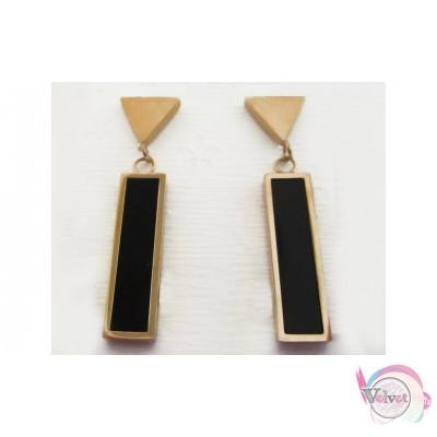 Ατσάλινα σκουλαρίκια, ροζ χρυσό,  1 ζευγάρι Ατσάλινα σκουλαρίκια