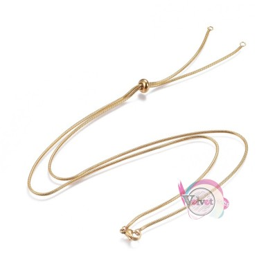 Ατσάλινη αλυσίδα για κατασκευή, προσαρμόσιμη ,χρυσή,72cm, 1τμχ Χρυσές
