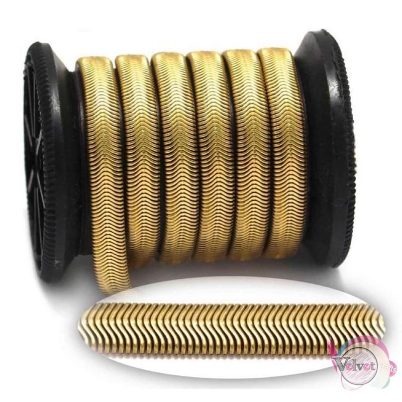 Ατσάλινη αλυσίδα, φίδι, χρυσό, 6mm, 0.5μέτρα Χρυσές