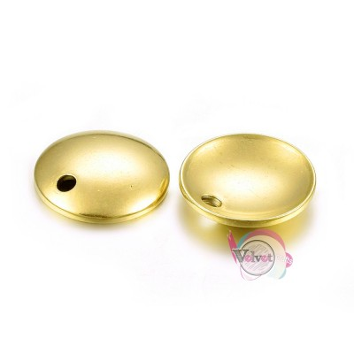 Ατσάλινο στοιχείο κύκλος, κρεμαστό, φλουράκι καμπυλωτό, 10mm, 10τμχ. Διάφορα