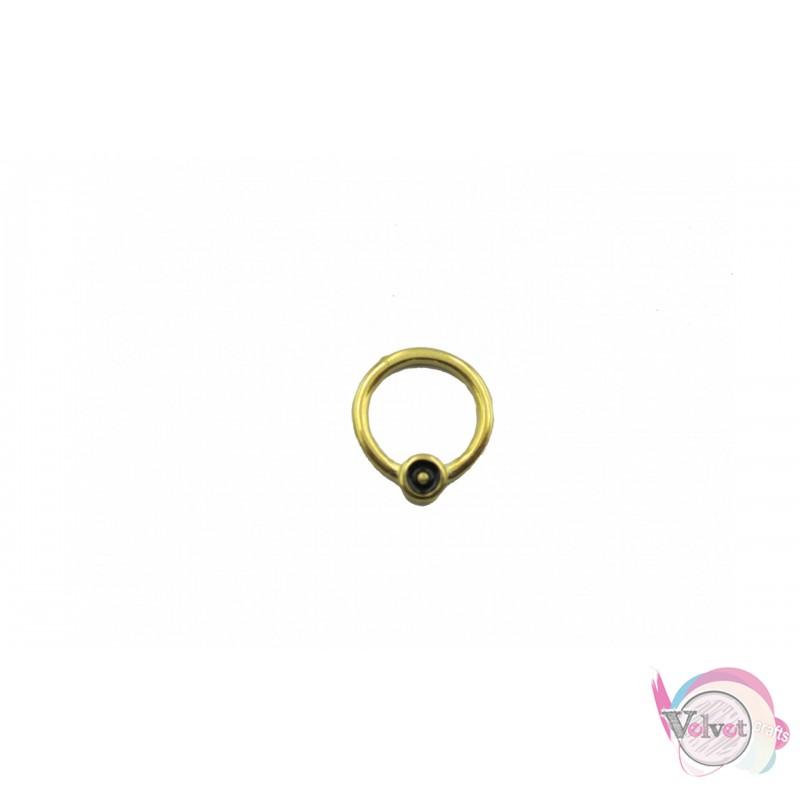 Κύκλος επιχρυσωμένος ματάκι,μαύρο, 16mm, 10τμχ Διάφορα
