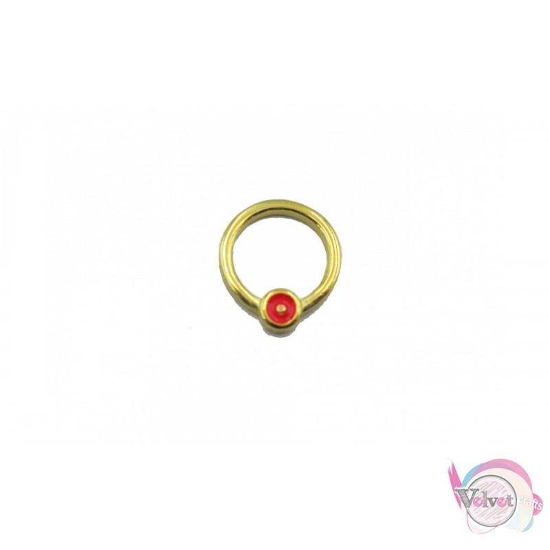 Κύκλος επιχρυσωμένος ματάκι,φούξ, 11mm, 10τμχ Διάφορα