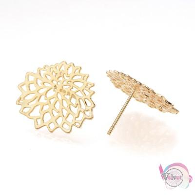 Σκουλαρίκια, κρεμαστά, επιχρυσωμένα, 20mm,  2τμχ. Σκουλαρίκια