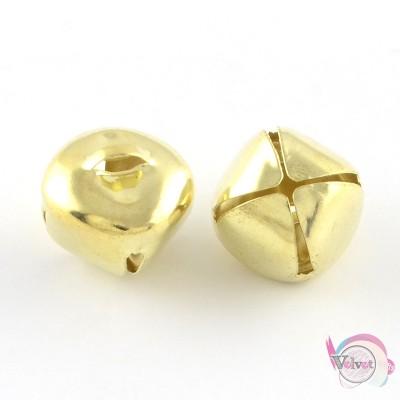 Κουδουνάκι, χρυσό, 10mm,  50τμχ Fashion items